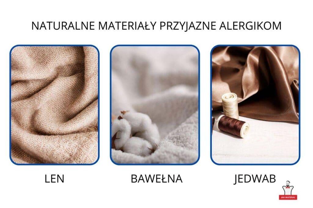 naturalne materiały dobre dla alergików